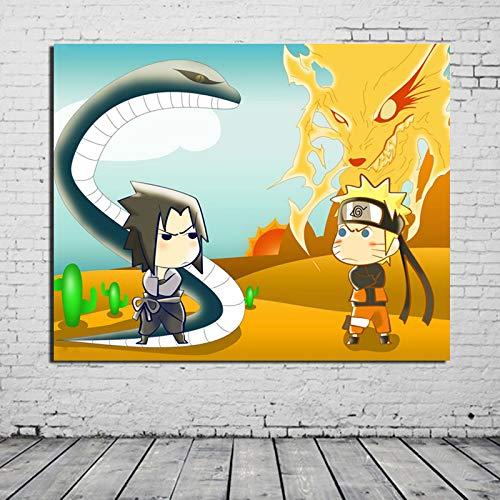 tzxdbh Grappige geanimeerde beweegt Canvas Schilderij Prints Woonkamer Home Decoratie Moderne Muur Art Olie Schilderij Posters Foto's HD With Frame 20x25 Inch