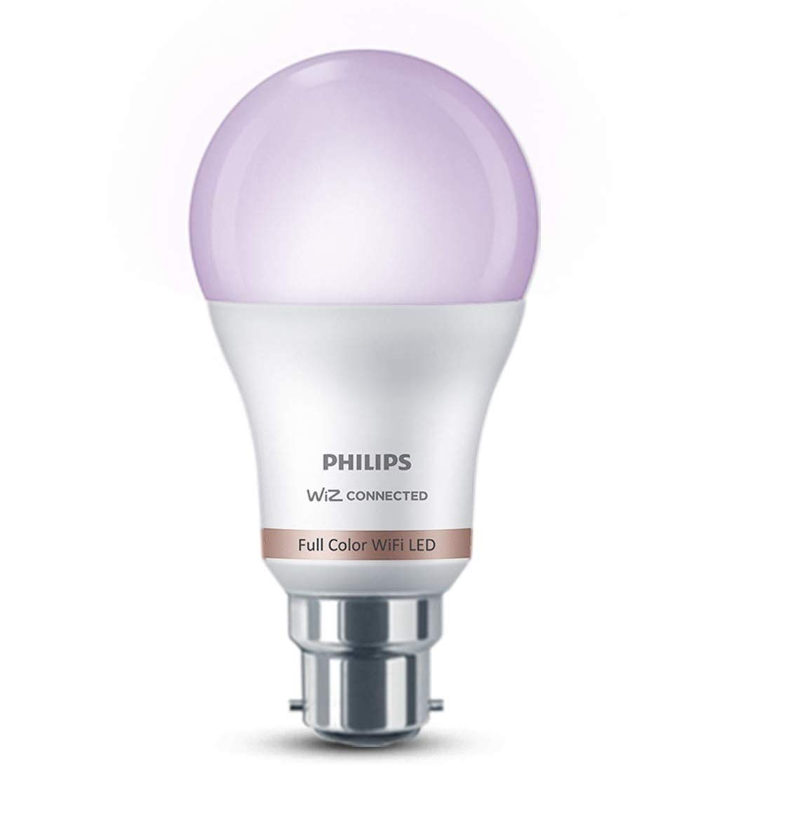 Philips Smart Wi-Fi LED Bulb B22 10-Watt WiZ Connected (16 Million Colors + Warm White/Neutral White/White + Dimmable + Pre-Set...