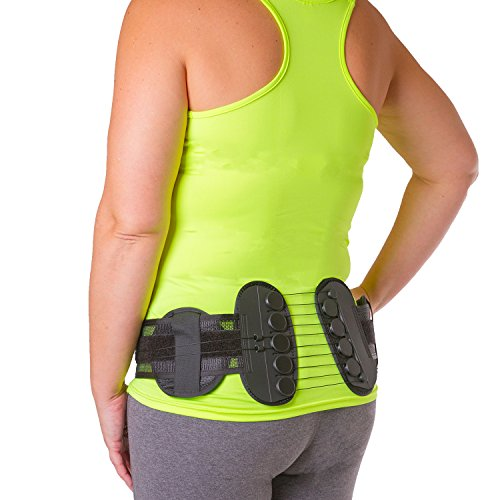 Sacroiliac Compression Brace | SI Joint Pain Relief Belt with Hip Support Pads for Bruised/Broken Tailbone Pain and Coccyx Injuries (One Size - Fits Women & Men with 32