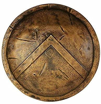 Escudo espartano ~ King Leonidas 300 Medieval calibre 18 Escudo de combate ~ Escudo de guerrero de disfraz espartano 300 (24 pulgadas) por Medieval Exportts