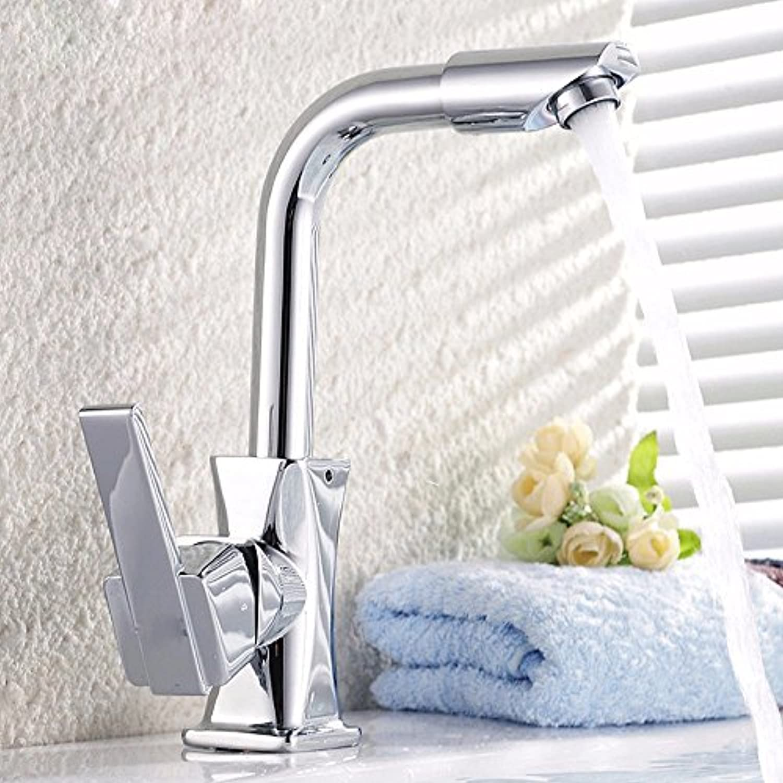 MMYNL TAPS MMYNL Waschtischarmatur Bad Mischbatterie Badarmatur Waschbecken Antike Kupfer warme und kalte Küche Drehung Badezimmer Waschtischmischer