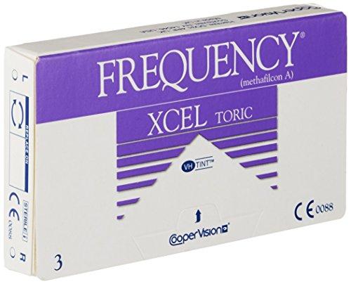 Frequency XCEL Toric Monatslinsen weich, 3 Stück / BC 8.70 mm / DIA 14.40 CYL -1.25 / ACHSE 180 / -4.00 Dioptrien