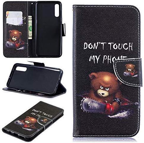 CoverKingz Handyhülle für Samsung Galaxy A50/A30s - Handytasche mit Kartenfach Galaxy A50/A30s Cover - Handy Hülle klappbar Motiv Bär