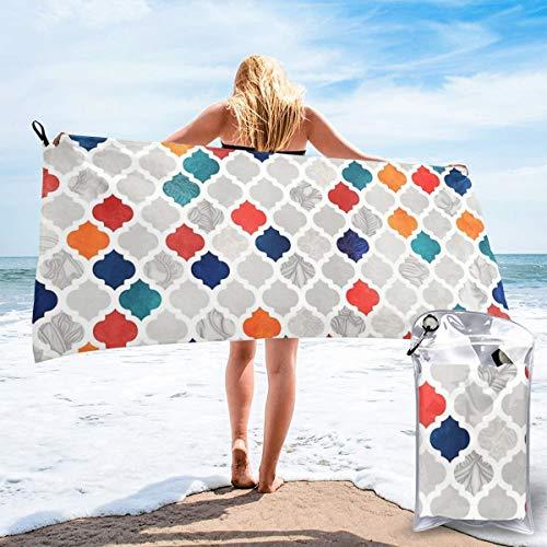 niet Zee & Kruid Marokkaanse Patroon Gooi Kussen Sneldrogende Sporthanddoek Beach Court