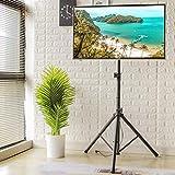 RFIVER Meuble TV Trépied Ecran Plat Support Télé sur Pied Pliable Pivotant et...