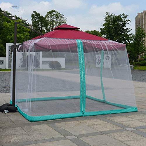 Jardín al Aire Libre Paraguas mosquiteras Mosquitera for la sombrilla, la pantalla jardín al aire libre Paraguas mesa del patio paraguas cubierta Mosquitero pantalla de peso ligero de malla con cremal