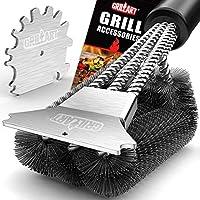Grillart 18 Inch Wire Bristle Grill Brush and Scraper