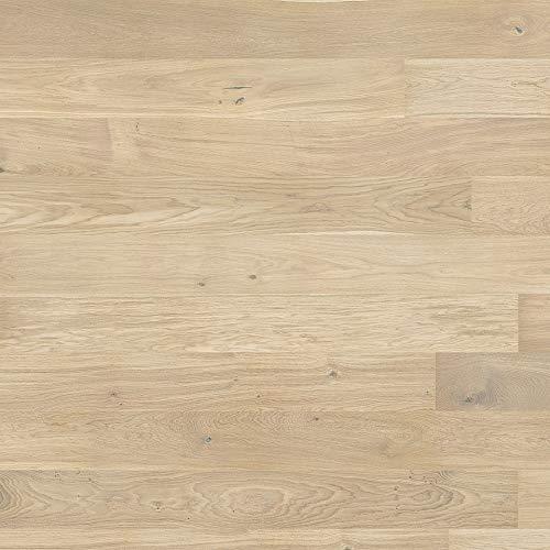 Pavimento Legno Prefinito da Interno, Listone Rovere Beige Spazzolato, Spessore 14mm, Scatola 2,77m²