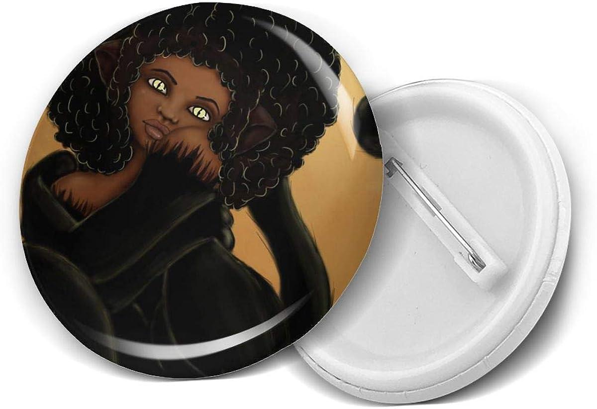 Round Brooch Badge Pins For Women Men Girls T Shirt Bag Backpacks Hat Accessories