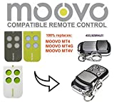MOOVO MT4, MT4G, MT4V kompatible Fernbedienung Ersatz Sender, 433,92Mhz Rolling Code Schlüsselanhänger