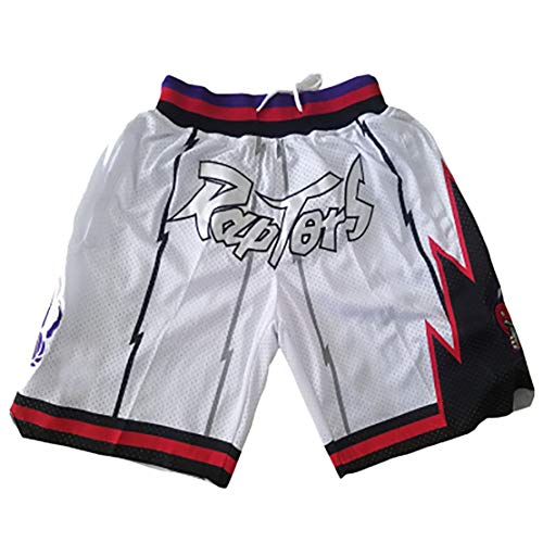 FYDT Jersey de Baloncesto de Malla Retro, Pantalones Cortos de Baloncesto de los Celtics Raptors de la edición Conmemorativa, Adecuado para colección-RaptorsWhite-S