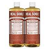 Dr. Bronners - Pure-Castile Liquid Soap (Eucalyptus, 32 ounce, 2-Pack) - Made with Organic Oils, 18-in-1 Uses: Face, Body, Hair, Laundry, Pets and Dishes, Concentrated, Vegan, Non-GMO