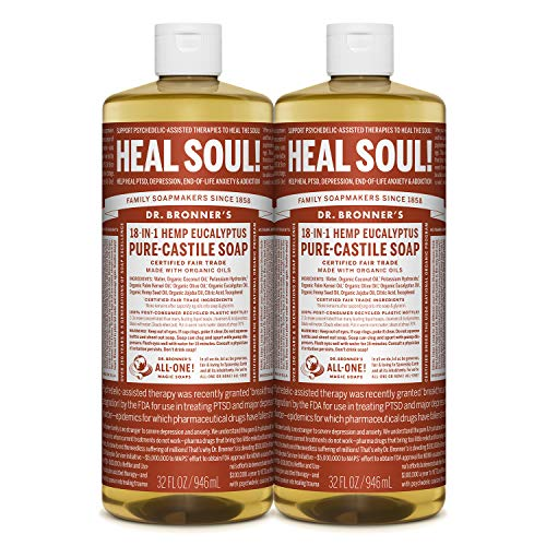 in budget affordable Dr. Bronner's – Pure Castile Liquid Soap (Eucalyptus, 32 oz, 2 packs) – Made from organic oils …