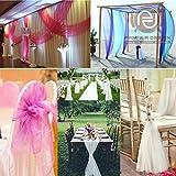 Parfair Dessin Organza by Yard - 44' Wide for Bridal Solid Sheer Organza Fabric Bolt for Wedding Dress,Fashion, Crafts, Wedding Banquet & Party Decorations Silky Shiny (Black - 44' x 10 Yards)