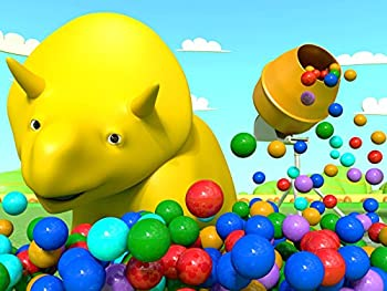 Dino Plays with a concrete mixer / Dino makes some balloons explode / Rainbow cake / Crush walls with trains