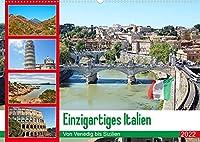 Einzigartiges Italien (Wandkalender 2022 DIN A2 quer): Von Venedig bis Sizilien (Monatskalender, 14 Seiten )