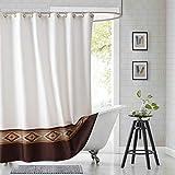 DS CURTAIN Aubrey Fabric Shower Curtain,Polyester Shower Curtain,Waterproof Shower Curtains for Bathroom,Printed Bathroom Curtains,78' W x 72' H