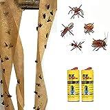 CIVIKY Paquete de 20 trampas adhesivas para insectos de plantas voladoras, tiras de cinta para la cocina, interior y exterior, fácil de quitar moscas
