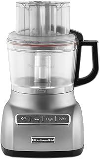 KitchenAid RKFP0922CU  Food Processor with ExactSlice System  9-Cup, Contour Silver, (Renewed)