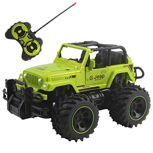 "Vokodo RC Truck 10"" 1:16 Scale Size with Big Off-Road Tires and Opening Doors SUV Remote Control Indoor Outdoor Car Ready to Run Electric RTR Kids Toy Vehicle Great Gift for Children Boys Girls"