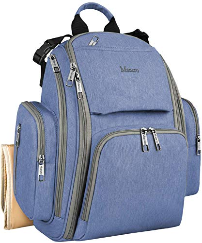 Diaper Bags for Boys, Large Baby Diaper Bookbag with Changing Pad, Stroller Straps, Lots of Pockets for Dad and Mom, Great Quality Organizer Waterproof Laptop Diaper Backpack for Baby Stuff, Dark Blue