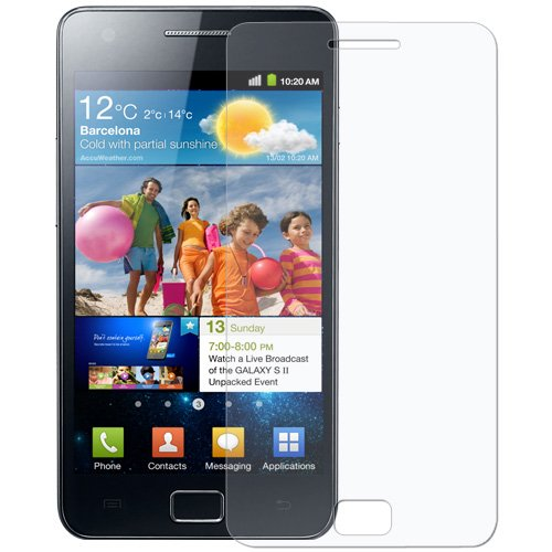 Amzer AMZ94449 Screen Protector with Cleaning Cloth for Samsung Galaxy S II GT-I9100 (Clear)