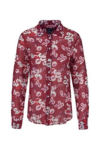D1. Fall Blues Cotton Silk Shirt, Farbe:rot, Größe:38