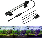 AquariumBasics led Aquarium Light for Fish Tank ,Auto on/Off Submersible White and Blue led Aquarium Plant Light with Timer and dimming Function (7.5 inch (Timer & Dimming Function))