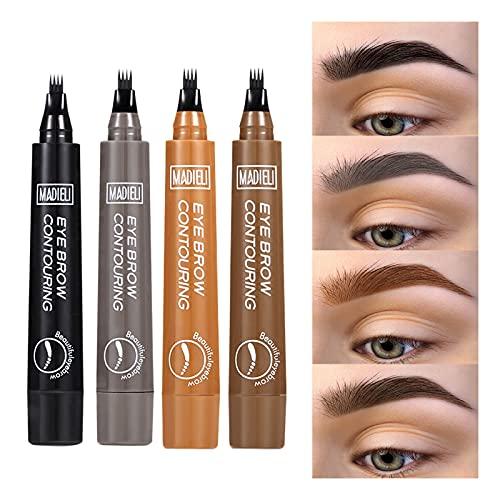 ONLYOILY Lápiz de cejas Set-Tattoo Sense Liquid Eyebrow con 4 colores, todo el día a prueba de agua