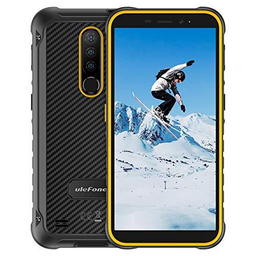 4Go+64Go Octa-Core Écran 5,7 Pouces Telephone Portable Incassable, Ulefone Armor X8 Android 10 Smartphone Debloque IP68 / IP69K étanche Antichoc 5080mAh 4G Double SIM GPS NFC TypeC(Jaune)