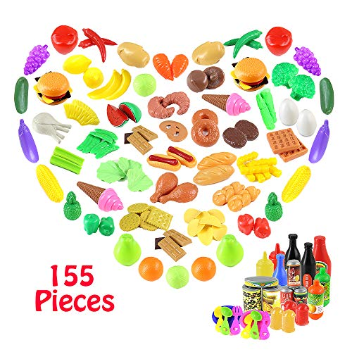 HiDreammy Pretend Play Food Set for Kids (155 Pieces)