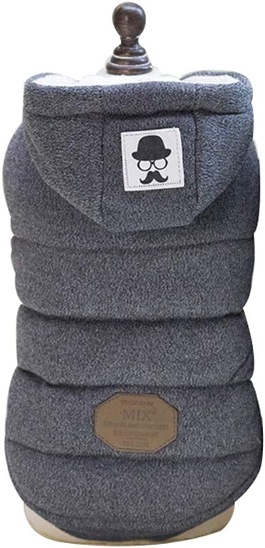 b07b3249e3483 AOBRITON Dog Jacket Cotton Clothes Winter Warm Pet Dog Clothes ...