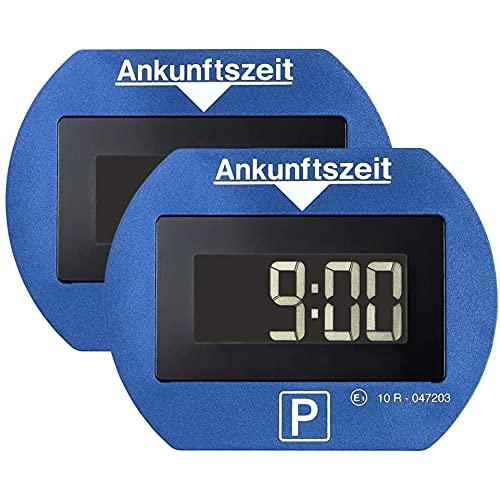 Park Lite 2X elektronische Parkscheibe Digitale Parkuhr blau mit offizieller Zulassung - 2 Stück Set