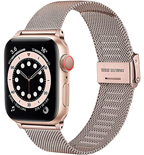 Befon Repalcement - Correa de metal compatible con Apple Watch de 38 mm, 40 mm, 42 mm, 44 mm, iWatch Series SE 6, 5, 4, 3, 2 1