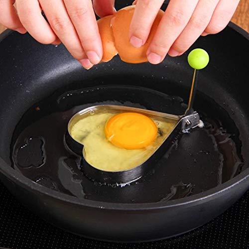 Kally Forma In Acciaio Inox Per Friggere Uova Strumenti Colazione Frittata Stampo Dispositivo Pancake Anello A Forma Di Uovo St