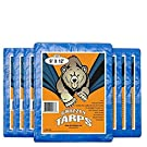 B-Air Grizzly Tarp, 8 x 8 Weave, Multi Purpose Waterproof Tarp, 9X12, Blue, Pack of 15