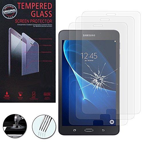 VComp-Shop 3 protectores de pantalla de cristal templado de alta calidad para Samsung Galaxy Tab A6 7.0 pulgadas, transparente.
