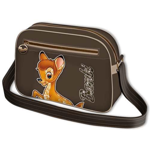 Disney Borsa tracolla orizzontale media ecopelle Bambi Walt