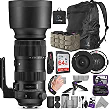 Sigma 60-600mm f/4.5-6.3 DG OS HSM Sports Lens for Nikon F + Sigma USB Dock with Altura Photo Advanced Accessory and Travel Bundle
