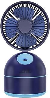 SHANGRUIYUAN-Mini Fan Multifunction Mini Fan Air Humidifier,USB Portable Rechargeable Desk Outdoor Travel Fan (Color : Blue)