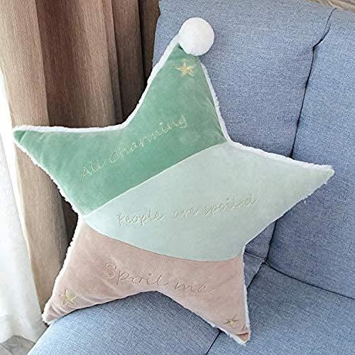 Kpcxdp Almohada para Dormir para niños y niñas Almohada de Espuma viscoelástica protección para el Cuidado del Cuello Almohada de Estrella de Cinco Puntas 45CM 2