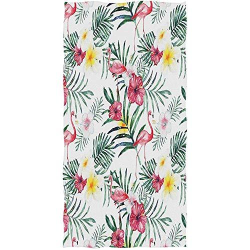 Taza Trópico Flamingo Hojas Flores Toallas de baño Mano Suave Grande Decorativo para baño Hogar Hotel Gimnasio SPA Invitado Multipropósito Altamente Absorbente