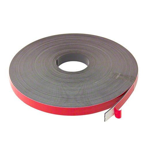 MagFlex MT19AB(FA)-1X1M F4MF19ABF-1 19mm Wide x 1.5mm Thick Foam Adhesive Magnetic Tape-Self Mating (1m Length), Black