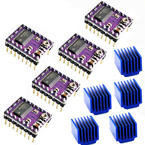 Youmile 5PACK DRV8825 3D Stepper Motor Drivers Module For 3D Printer RepRap StepStick For Arduino With Heat sink Carrier