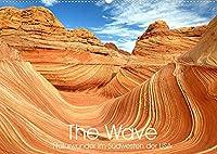 The Wave: Naturwunder im Suedwesten der USA (Wandkalender 2022 DIN A2 quer): Atemberaubende Sandstein Formationen (Monatskalender, 14 Seiten )