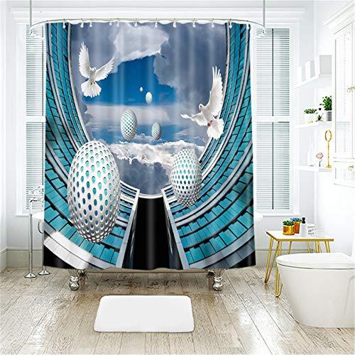 YPXXPY Duschvorhang Hohe Taube Sand Bad Vorhang Digitaldruck Polyester Stoff Badezimmer Dekor, wasserdicht