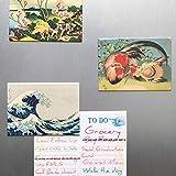 The Gifted Stationery Klimt Calamite da frigorifero 8,9 x 6,3 cm, multicolore, confezione da 12