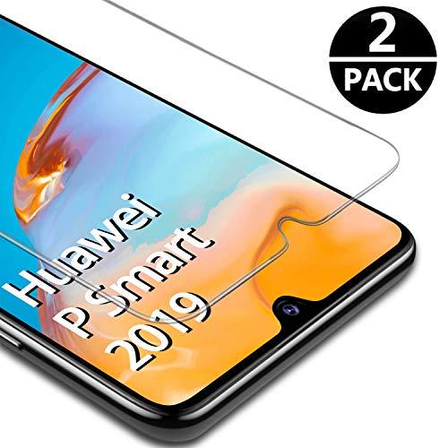 FUMUM 2,5D Cristal Templado para Huawei P Smart 2019 Protector de Pantalla,Premium 9H Anti-Arañazos, Anti-Huellas Dactilares, Sin Burbujas Vidrio Templado[2 Piezas]