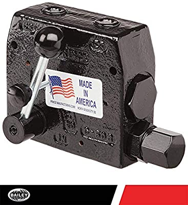 """Prince RDRS-150-16 Flow Control Valve, Adjustable Pressure Relief, Cast Iron, 3000 psi, 0-16 gpm, 1/2"""" NPTF from Prince Manufacturing"""