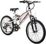 F.lli Schiano Biammortizzata Rider 20 Shimano, Bicicletta Bambino, Bianco/Rosso,...